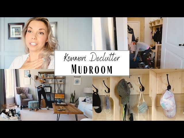 Konmari Method Declutter | Mudroom | Emotional and Motivating