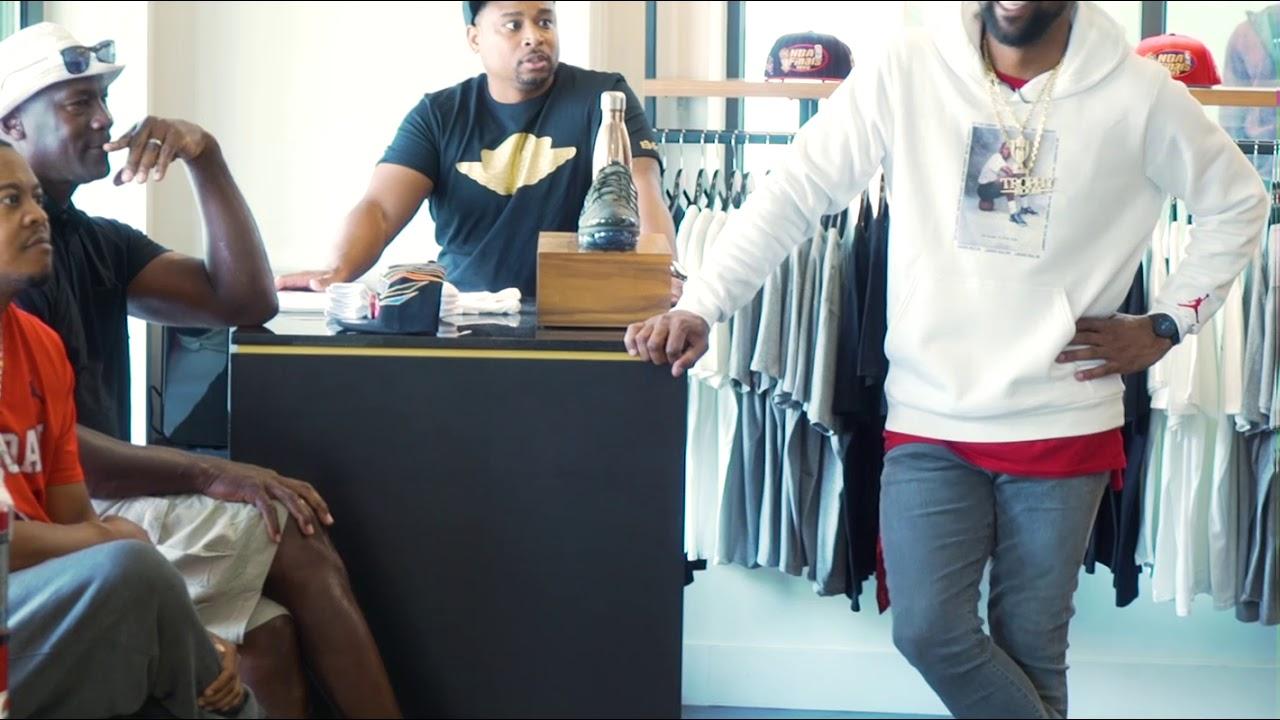 Michael Jordan visits son's store