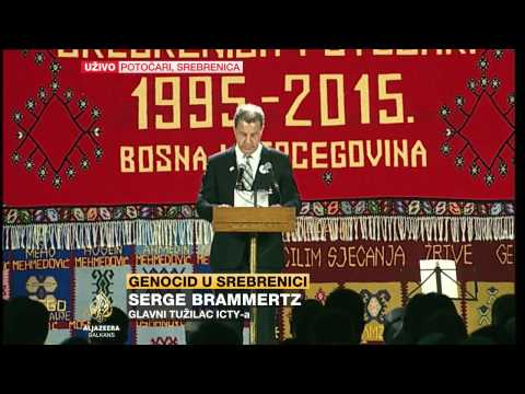 Serge Brammertz na obilježavanju godišnjice genocida u Srebrenici