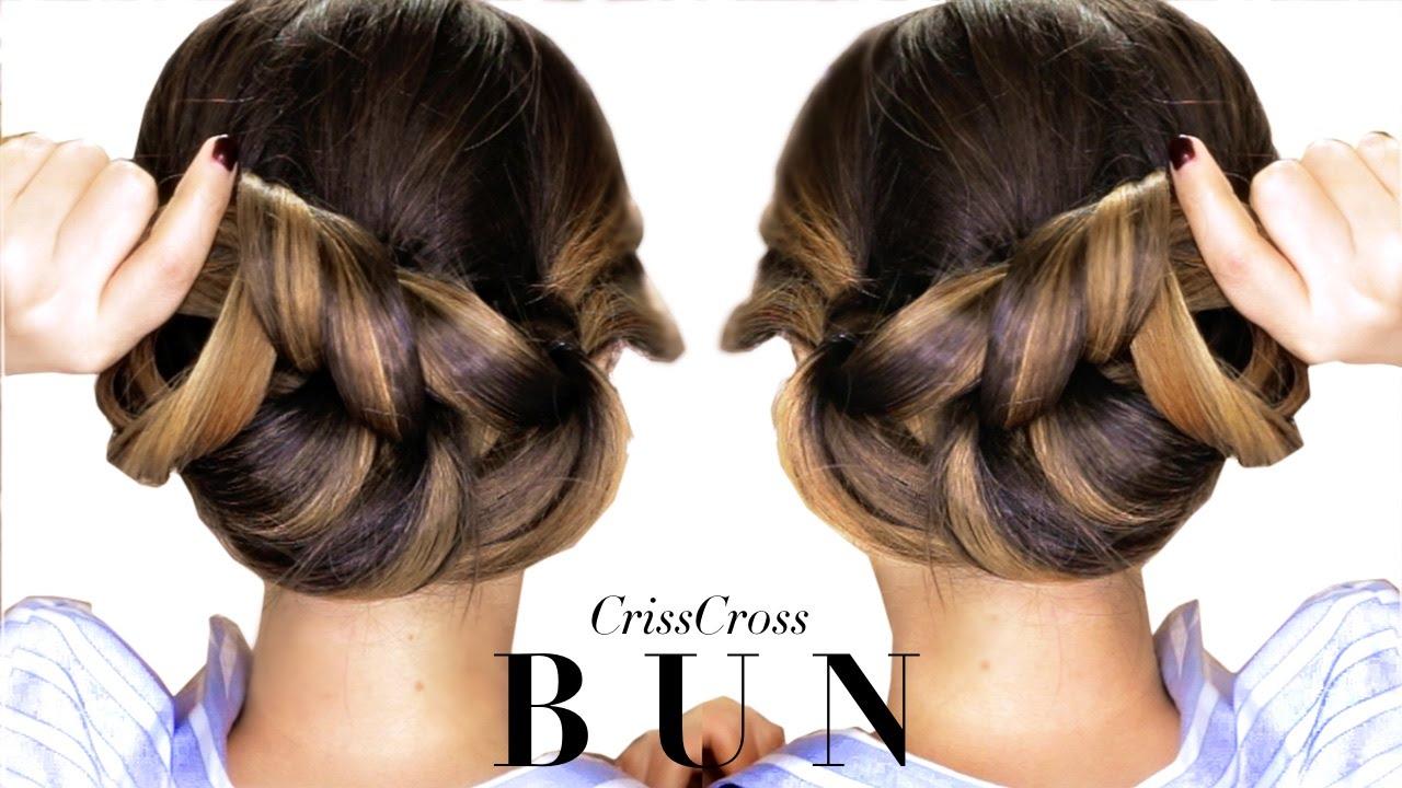 3-minute elegant bun hairstyle