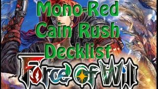 Force of Will (TCG) Deck Profile: Mono Red Cain Rush