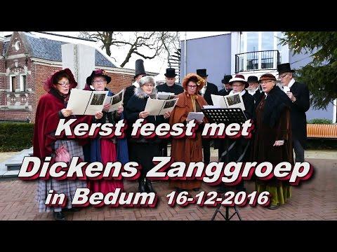 Kerstfeest met Dickens zanggroep in Bedum 16 12 2016