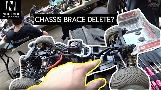 Tekno EB410 Chassis Brace Removal and 4WD MOD A-MAIN RACE - Netcruzer RC
