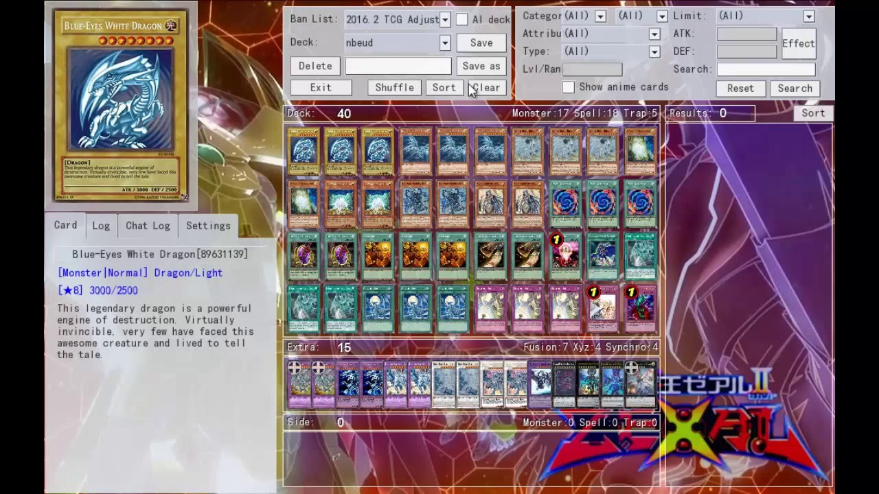 ygopro deck profile neo blue eyes ultimate dragon deck marzo 2016