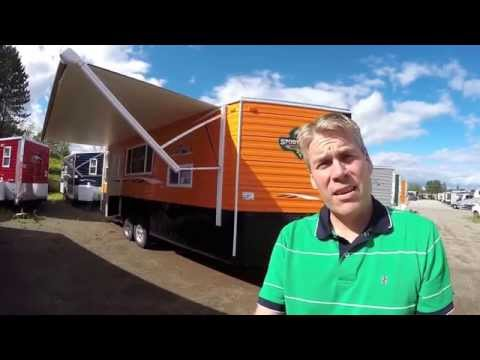 """2016 Ice Castle """"Sportsman's Hideout"""" Toy Hauler Fish House with Toliet and Arctic Package!"""