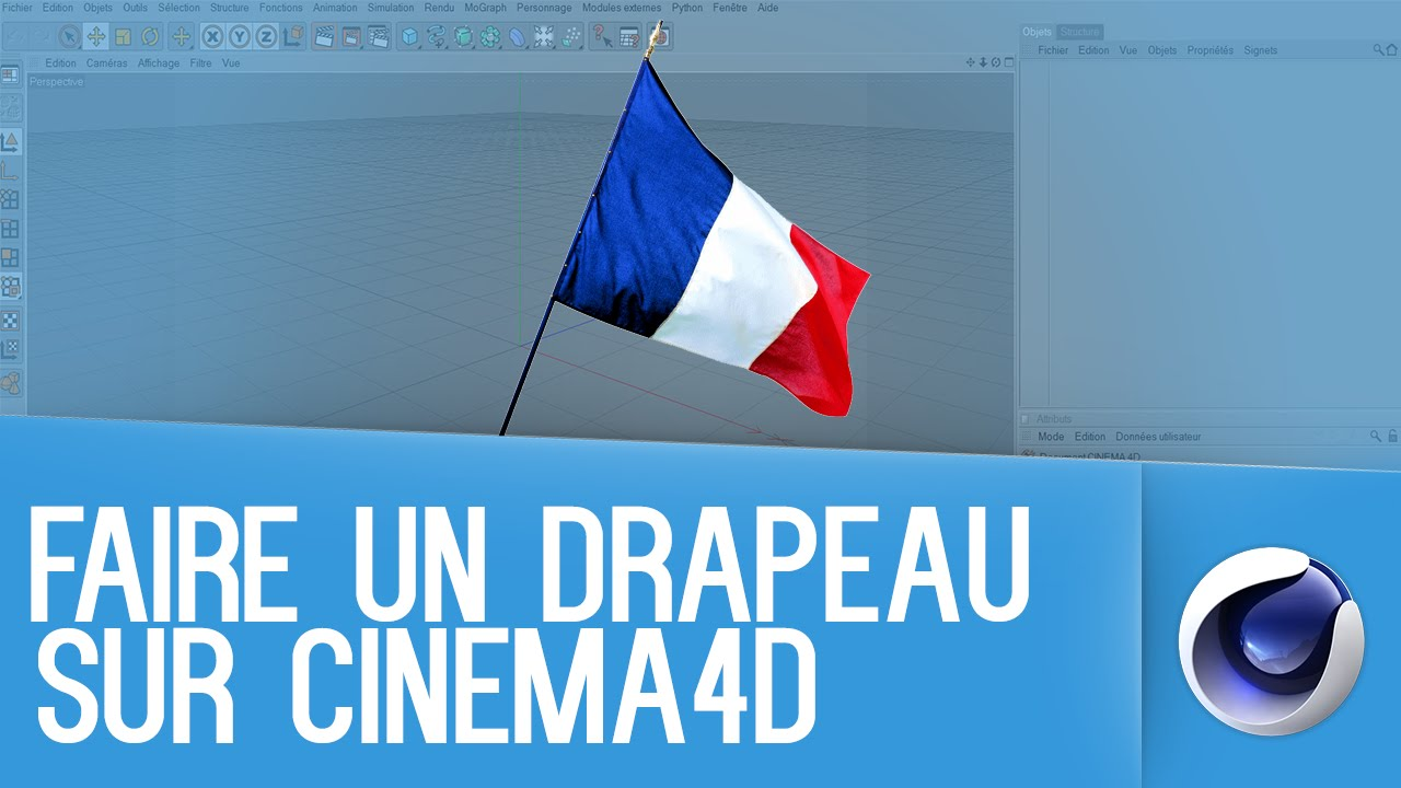 Très TUTO CINEMA 4D ▻ Faire un drapeau - YouTube EY98