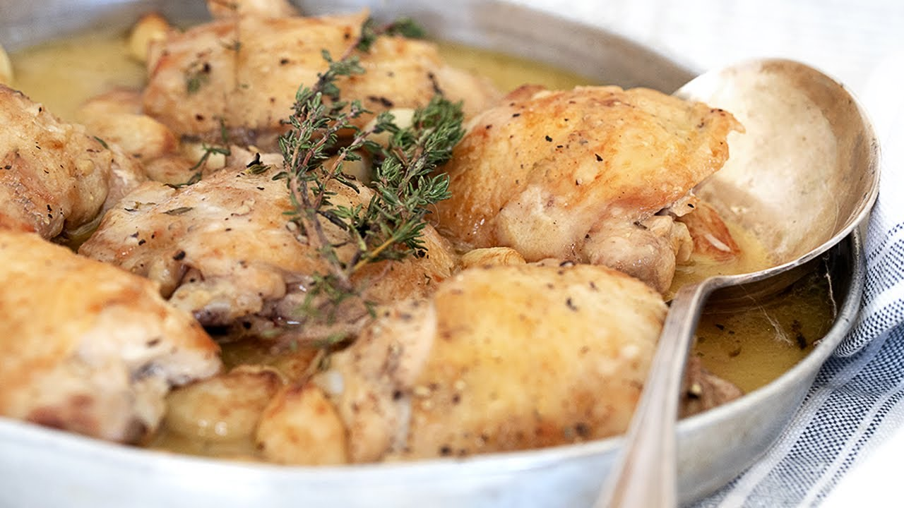 Rustic Chicken With Garlic Gravy Seasons And Suppers