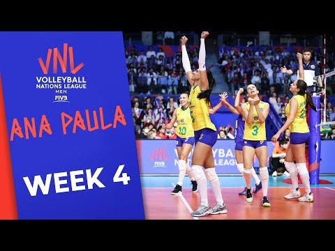 TOO Much Power For Japan!! Ana Paula With 26 Points Made Vs. Japan | Volleyball Nations League 2019