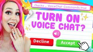 Can I Unlock VOICE CHAT Using VIRAL TIKTOK HACKS!? Viral TIkTok Hacks Roblox Adopt Me