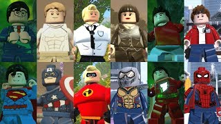 All Superhero Alter Egos in Lego videogames!
