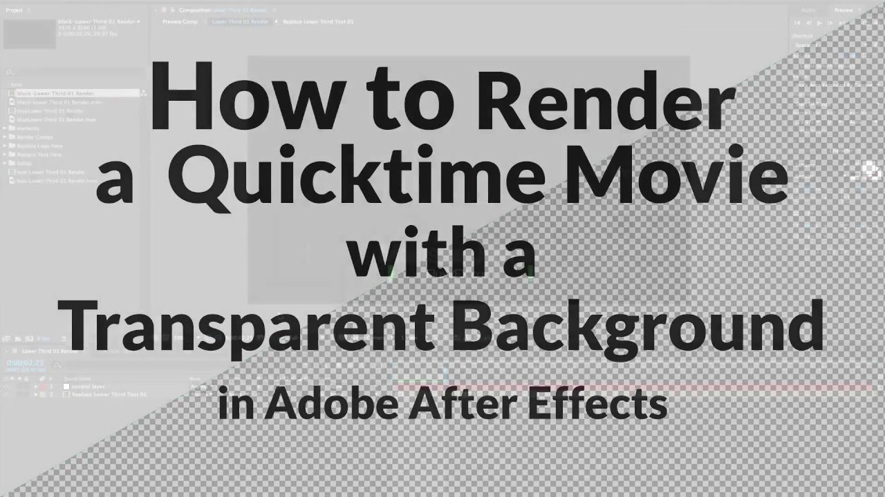 How to Export a Movie with a Transparent Background in After