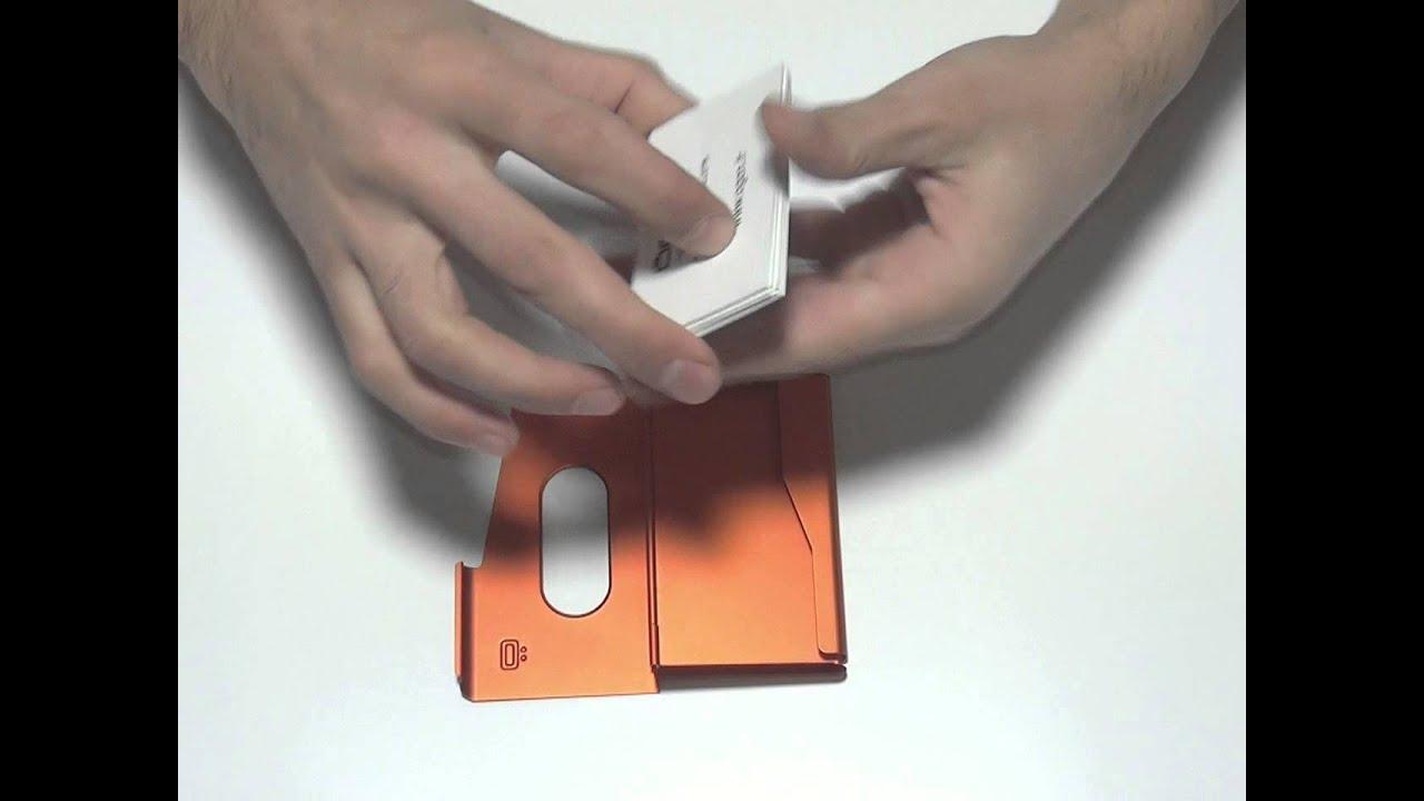 ONE-TOUCH : Aluminium Business Card Holder / Porte-cartes de ...