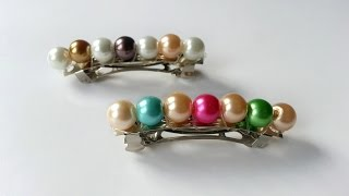 Create Pretty Beaded Hair Clips - DIY Style - Guidecentral