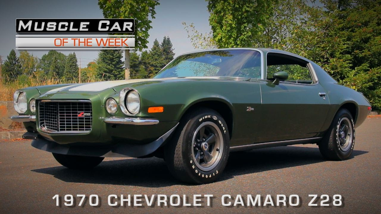 muscle car of the week video #119: 1970 chevrolet camaro z28 - youtube