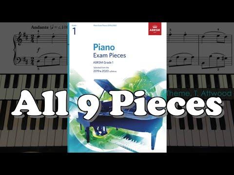 ABRSM Grade 1 Piano (2019 & 2020): All 9 Pieces