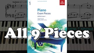 Gambar cover ABRSM Grade 1 Piano (2019 & 2020): All 9 Pieces