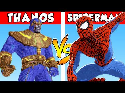 THANOS vs SPIDERMAN – PvZ vs Minecraft vs Smash