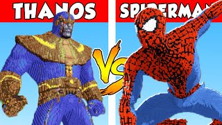THANOS vs SPIDERMAN - PvZ vs Minecraft vs Smash