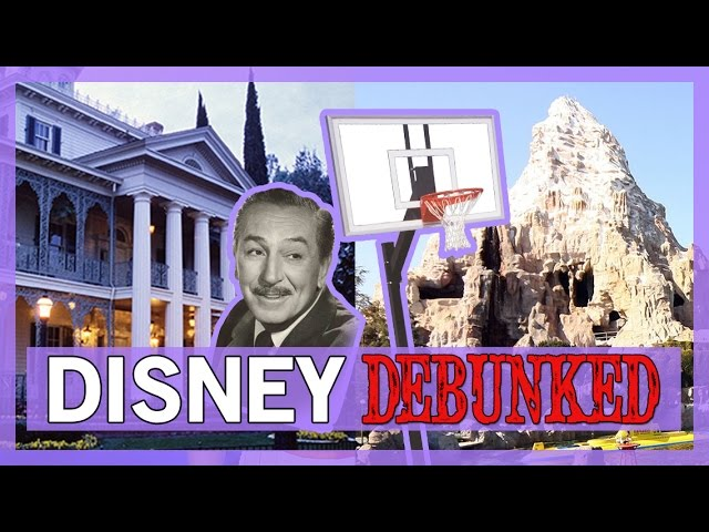 Disney DEBUNKED: Walt Disney in the Haunted Mansion and the Matterhorn Basketball Court