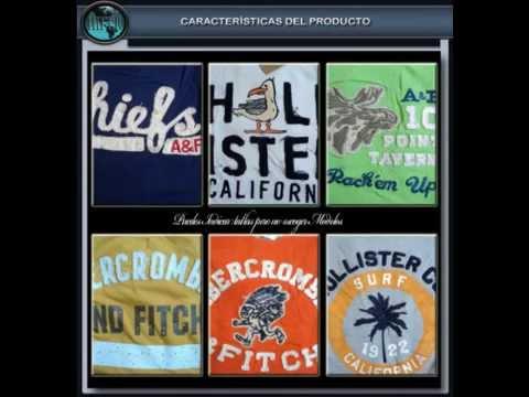 lotes de ropa playeras hollister cuello redondo bordadas 100% originales  abercrombie aeropostal - YouTube 853604d5efce6