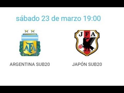 23/03/2019 Pinatar Football SUB20: ARGENTINA- JAPON