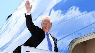 Trump departs G7 summit, protests continue
