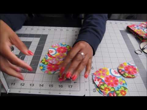 DIY Fabric Flower Embellishments  Key Ring   Bag Charms   Tutorial