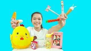 Chị Trang oz Chuẩn bị Đồ Dùng Học Tập Cho Kiều Anh