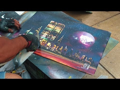 Spray Painting – Cool drawing technique & Amazing street artist