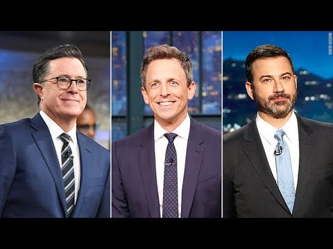 Stephen Colbert, Jimmy Kimmel, and Seth Meyers consider why ...