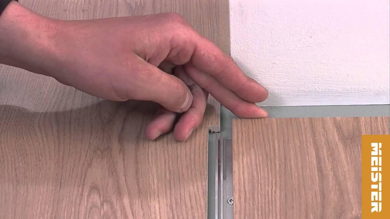 MEISTER | Perfekte Positionierung Des Übergangprofils Bei Einer Gefälzten  Tür.
