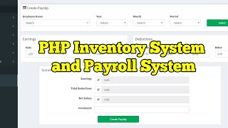 This video is all about inventory management system and payroll system. a guide on how to use the software. related topics php tutorials p...