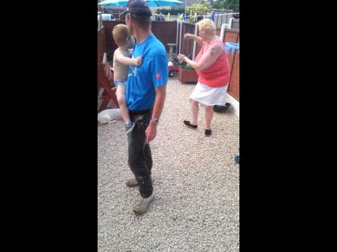 Tracey McKinlay dancing to agadoo