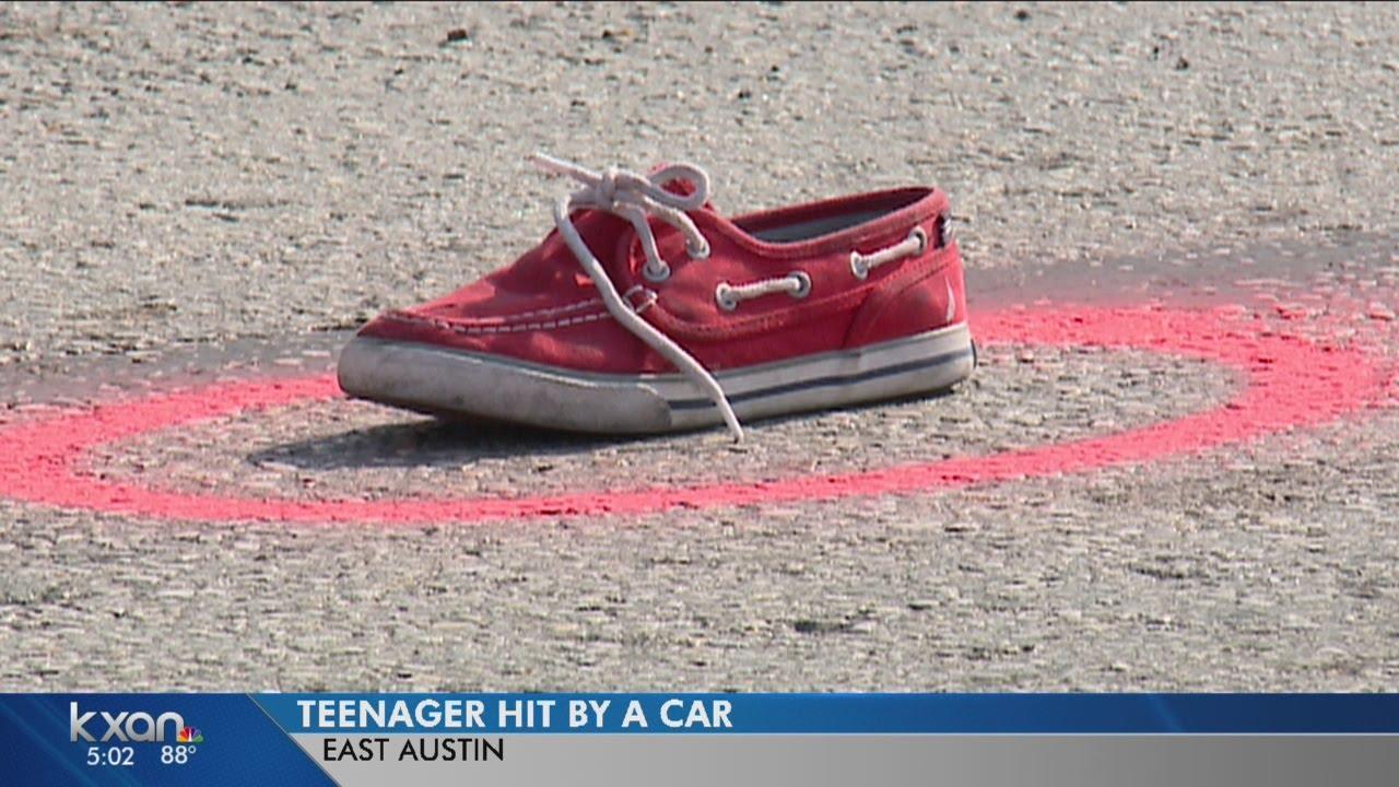 By car hit teen