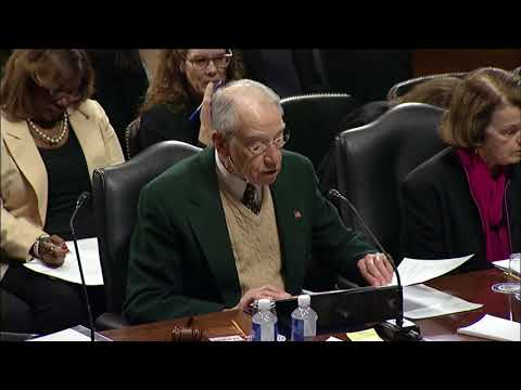 Grassley Statement at Executive Business Meeting on U.S. Patent and Trademark Office Nominee