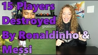 15 Players Destroyed By Ronaldinho & Messi (Reaction 🔥)