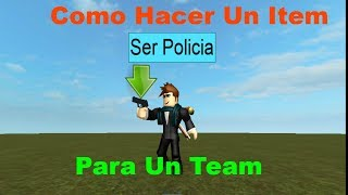 Como Hacer Un Item Para Un Team | Roblox Studio