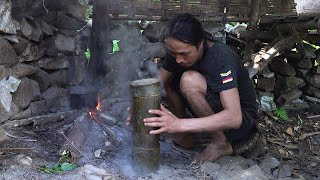 How to make a F๐od Steamer with Bamboo Tube, Wilderness Alone, Episode 163