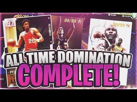 ALL TIME DOMINATION COMPLETE! PACKS/TOKENS/PINK DIAMOND PLAYER! (NBA 2K19 MYTEAM)