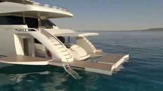 Очень крутая супер яхта. Цена неизвестна.