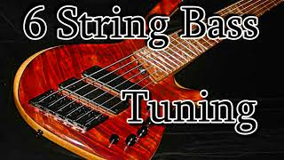 easy 6 string bass tuner (b-e-a-d-g-c)