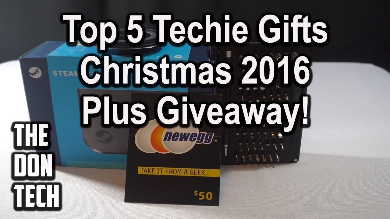 Top 5 Gifts For Techies + Giveaway! Christmas/Holiday 2016 - YouTube