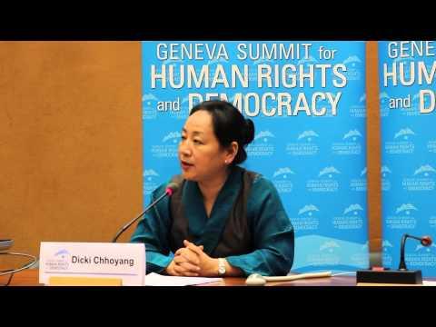 Dicki Chhoyang at Geneva Summit 2015