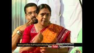 shobha surendran flays c krishna kumar for the defeat she faced in assembly election 2016