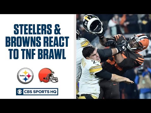 PRESS CONFERENCE: Browns and Steelers react to the Myles Garrett brawl on TNF  CBS Sports HQ
