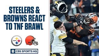 PRESS CONFERENCE: Browns and Steelers react to the Myles Garrett brawl on TNF | CBS Sports HQ