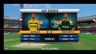 1st ODI Australia Vs South Africa Full Match Highlights World Cricket Championship 2 mobile