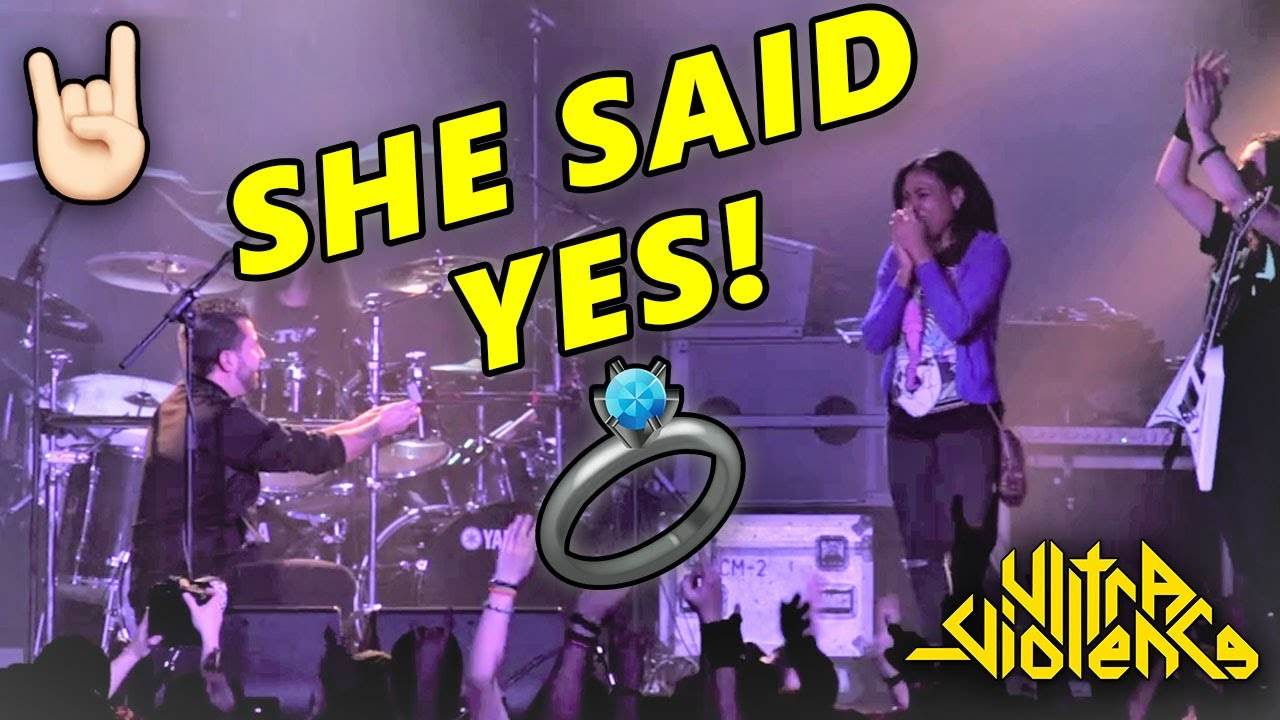 Proposal during an ULTRA-VIOLENCE Show (WAIT FOR IT!) | Concert Wedding Proposal Ideas