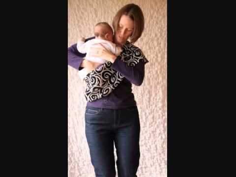How To Put A Baby In A Sling Cradle Position Youtube