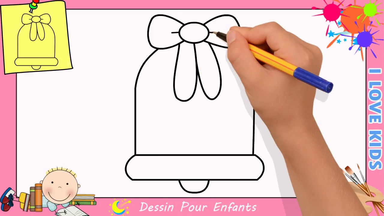 Dessin cloche de noel facile comment dessiner une cloche de noel facilement youtube - Dessin de cloche ...